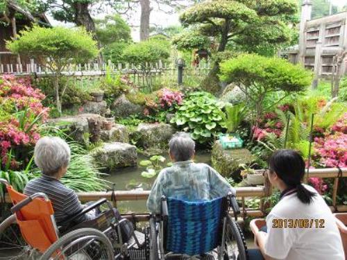 曙月庵の庭園